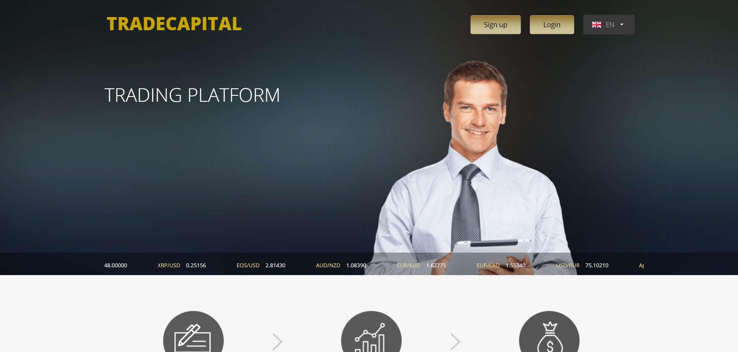 Брокер Trade Capital: критический обзор и отзывы на нового лохотронщика?