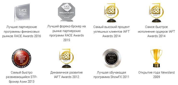 Награды брокера AMarkets