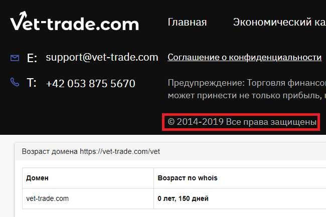 Отзыв о Vet Trade: раскрываем обман лжеброкера на рынке Форекс.