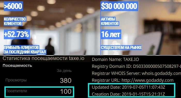 Новые обзор и отзыв на Taxe Io - привет - я ваш слив депозита!