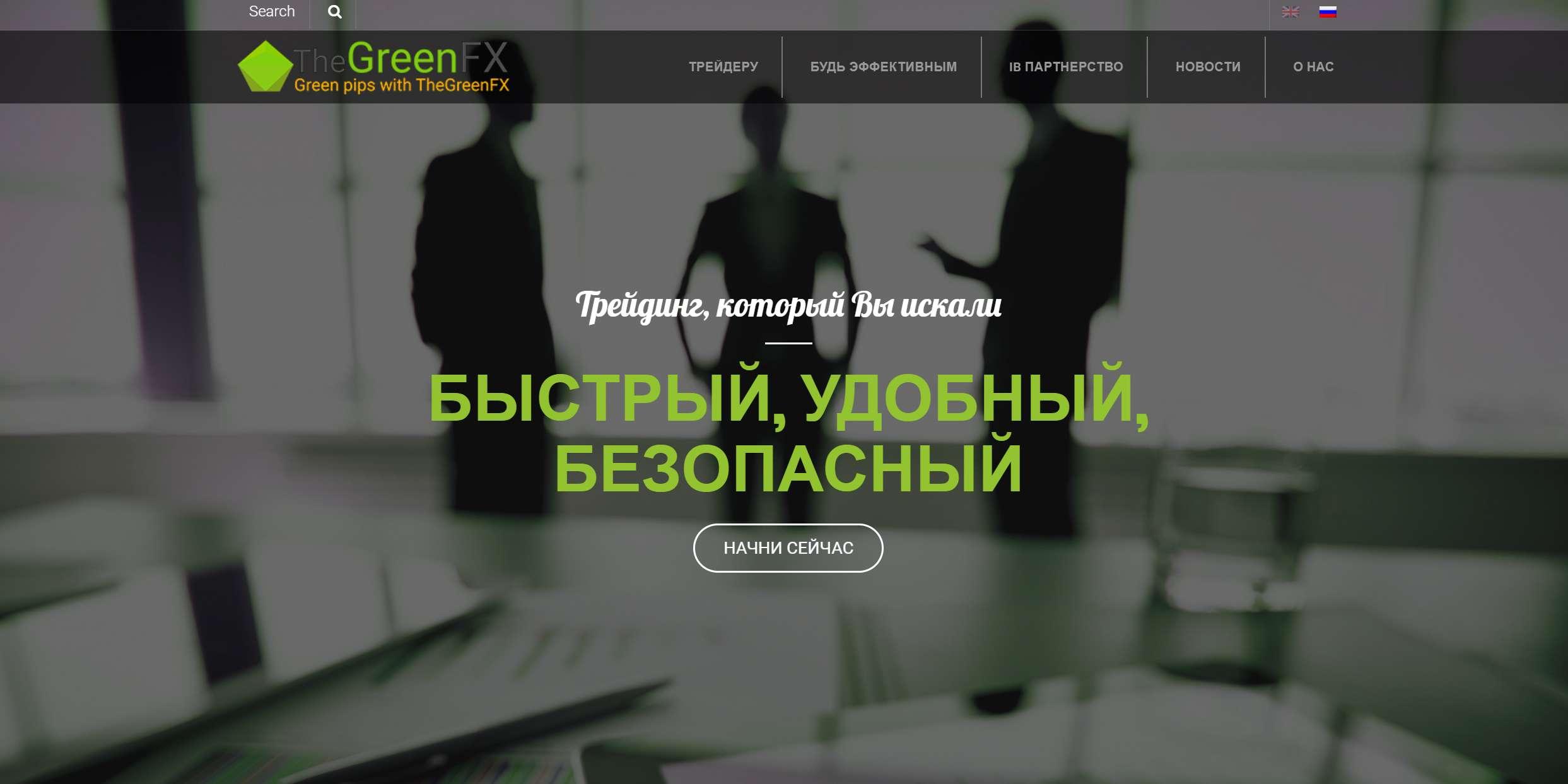 Псевдоброкер The Green Fx – ознакомимся с настоящим отзывом на мутный проект