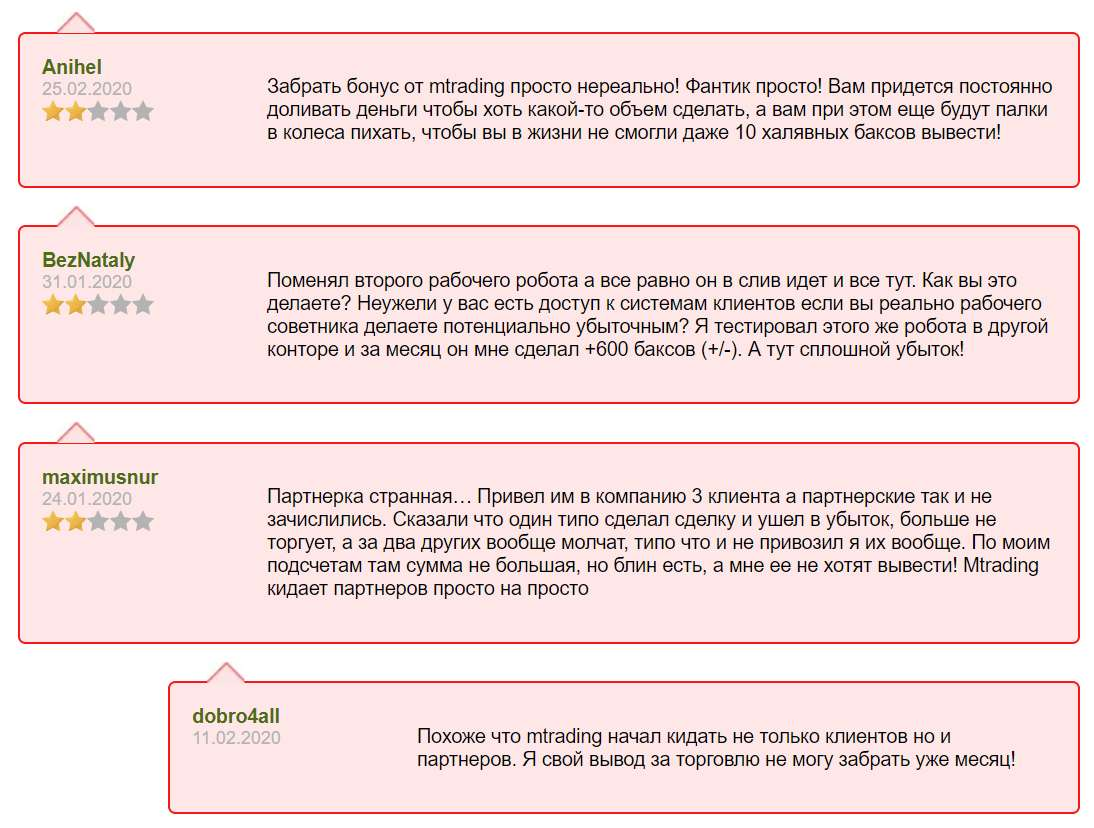 Обзор и отзывы на псевдоброкера - MTrading. Опасный и мутный лохотрон?