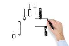 Анализ разворота цен на графике на основе японских свечей.