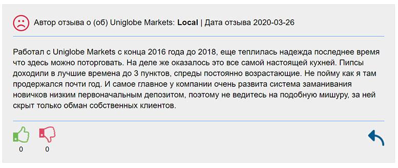 Обзор лживого брокера Uniglobe Markets. Отзывы и обзор. Доверять или нет?