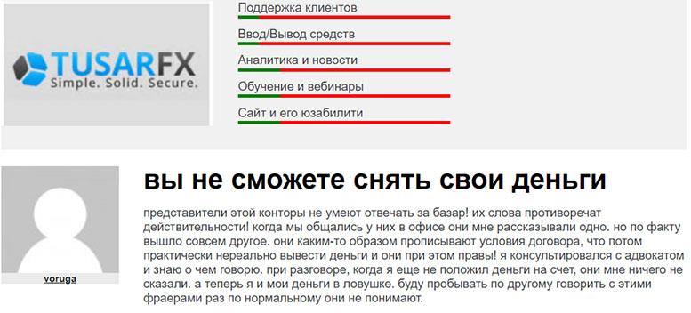 Обзор брокера Tusar Forex (TusarFX). Доверять опасно! Отзывы.