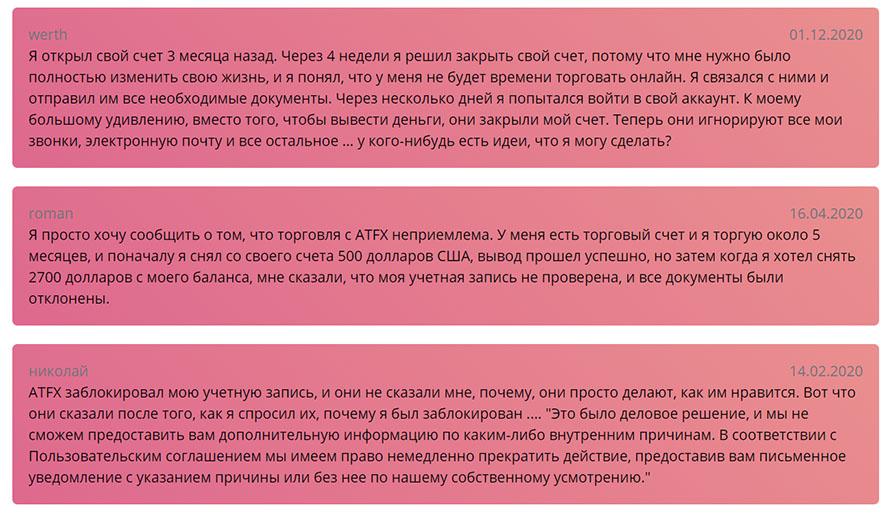 Обзор мошеннического портала в сети интернет atfx. Отзывы.