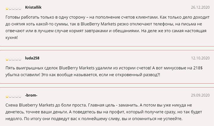 Blueberry Markets - сотрудничество грозит разводом? Возможно лохотрон! Отзывы.